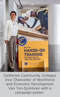 Van Ton-Quinlivan with Career Education Postern